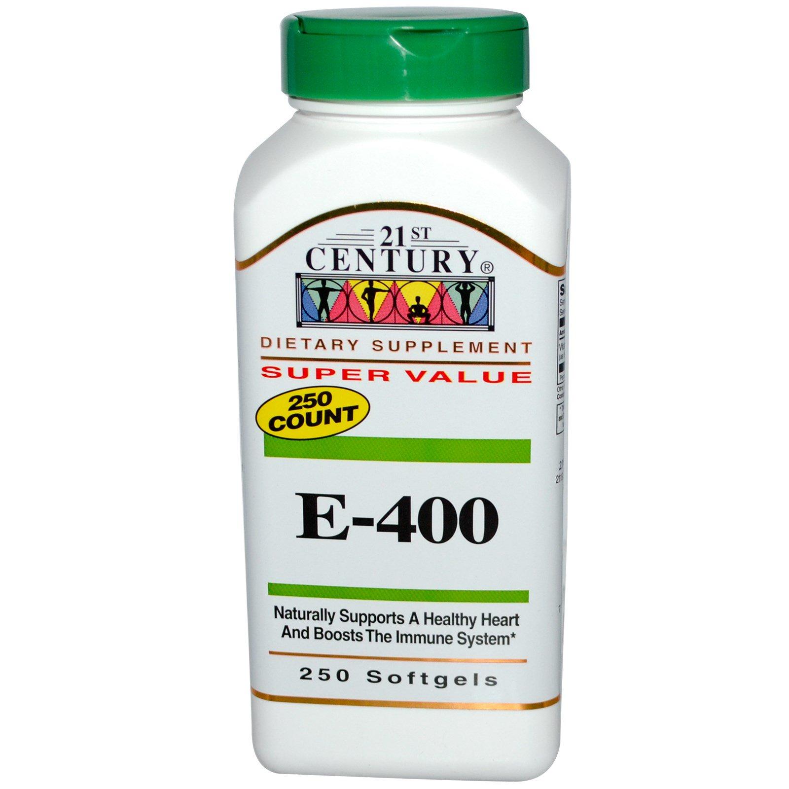 21st Century, E-400, 250 гелевых капсул