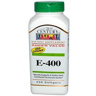 21st Century, E-400, 250 Softgels