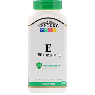 21st Century, Vitamin E, 180 mg (400 IU), 250 Softgels