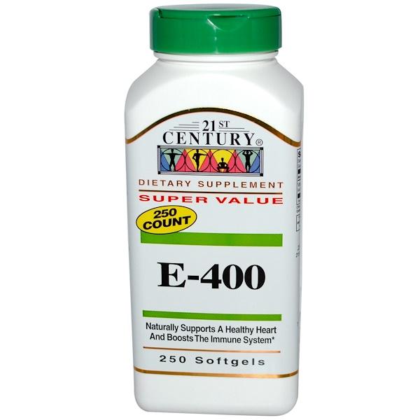 21st Century, E-400, 250 cápsulas gelatinosas