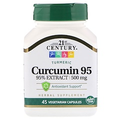 21st Century, Куркумин 95, 500 мг, 45 вегетарианских капсул