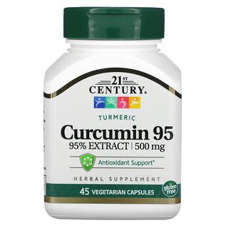 21st Century, Curcumina95, 500mg, 45cápsulas vegetales