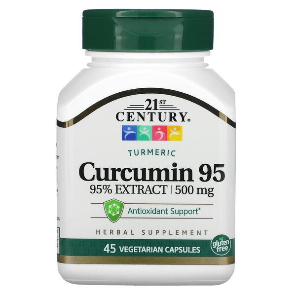 Curcumine 95, 500mg, 45capsules végétariennes