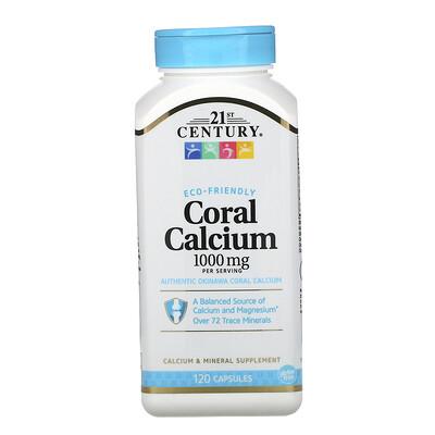 Купить 21st Century Коралловый кальций, 1000мг, 120капсул