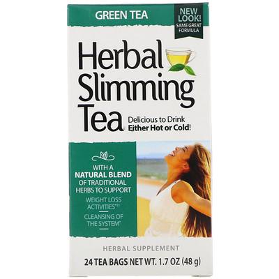Купить Травяной чай для похудения, зеленый чай, 24чайных пакетика, 45г