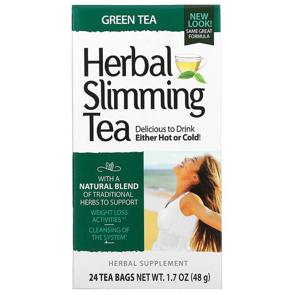 Herbal Slimming Tea, Green Tea, 24 Tea Bags, 1.7 oz (48 g)