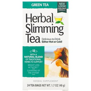 21 Сенчури, Herbal Slimming Tea, Green Tea, Caffeine Free, 24 Tea Bags, 1.6 oz (45 g) отзывы покупателей