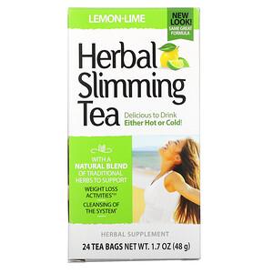 21 Сенчури, Herbal Slimming Tea, Lemon-Lime, Caffeine Free, 24 Tea Bags, 1.7 oz (48 g) отзывы покупателей