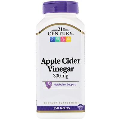 Купить 21st Century яблочный уксус, 300 мг, 250 таблеток