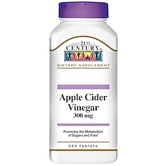 21st Century, Apple Cider Vinegar, 300 mg, 250 Tablets