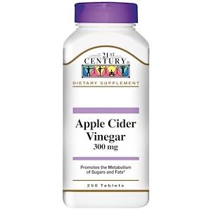 21st Century, Яблочный уксус, 300 мг, 250 таблеток купить на iHerb
