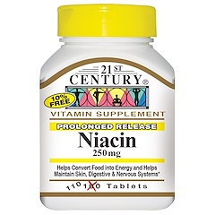 21st Century, Niacin, 250 mg, 110 Tablets