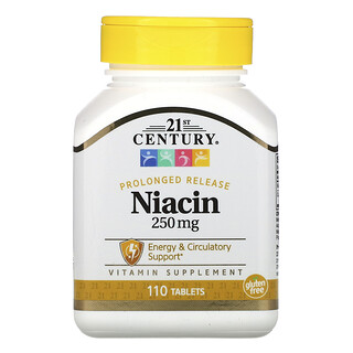 21st Century, Prolonged Release Niacin, 250 mg, 110 Tablets