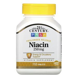 21 Сенчури, Prolonged Release Niacin, 250 mg, 110 Tablets отзывы покупателей
