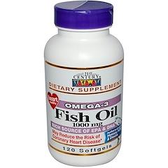 21st Century, フィッシュ オイル, 1000 mg, ソフトジェルカプセル120粒