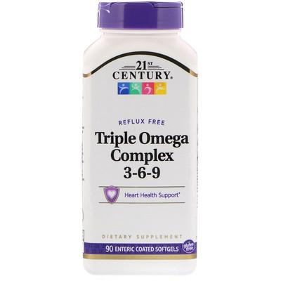 Тройной Комплекс Омега 3-6-9 90 гелевых капсул с кишечным покрытием комплекс аминокислот geon омега ликопин 700 мг 90 капсул
