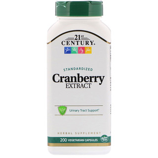 21st Century, Cranberry Extract, Standardized, 200 Vegetarian Capsules