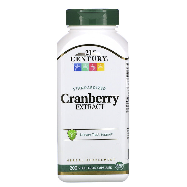 Cranberry Extract, Standardized, 200 Vegetarian Capsules