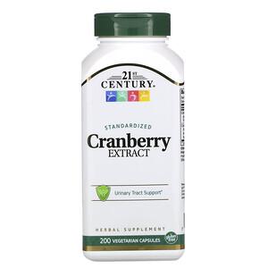 21 Сенчури, Cranberry Extract, Standardized, 200 Vegetarian Capsules отзывы покупателей