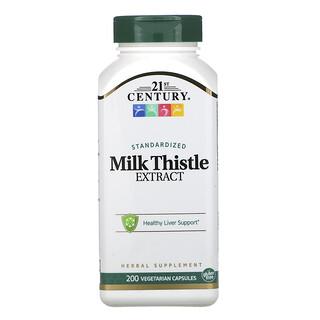 21st Century, Standardized Milk Thistle Extract, 200 Vegetarian Capsules