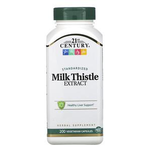 21 Сенчури, Standardized Milk Thistle Extract, 200 Vegetarian Capsules отзывы покупателей