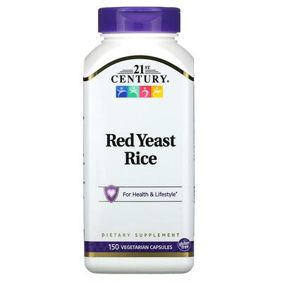 21st Century Красный ферментированный рис, 150 вегетарианских капсул