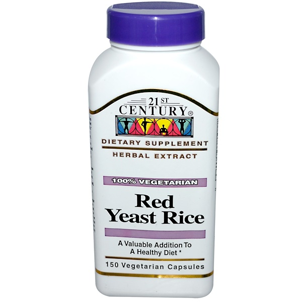 21st Century, Red Yeast Rice, 150 Veggie Caps