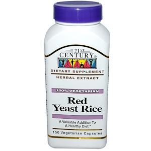 21st Century, Красный ферментированный рис, 150 вегетарианских капсул