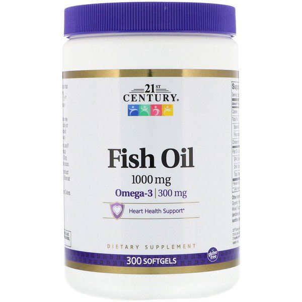 Fish Oil, 1,000 mg, 300 Softgels