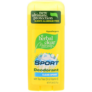 21st Century, Herbal Clear Naturally!, Sport Deodorant, Clear Sport, 2.65 oz (75 g)