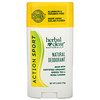 21 Сенчури, Herbal Clear Naturally, Natural Deodorant, Action Sport, 2.65 oz (75 g)