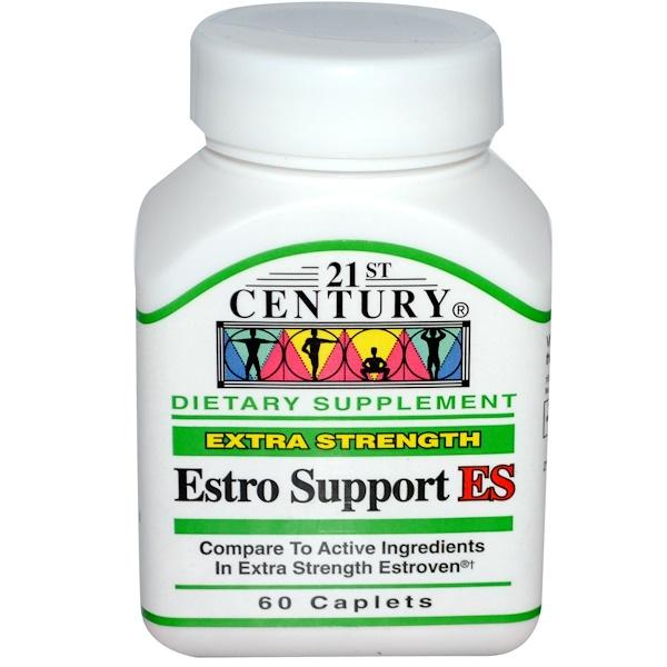 21st Century, Эстро поддержка ЭП, повышенная сила действия, 60 капсуловидных таблеток