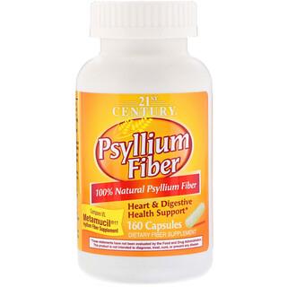 21st Century, Fibra Psyllium, 160 cápsulas