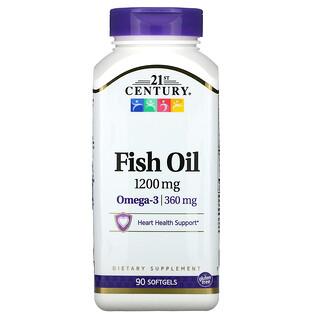 21st Century, Fish Oil, 1,200 mg, 90 Softgels
