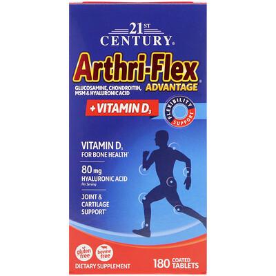 Купить Arthri-Flex Advantage, + витамин D3, 180 таблетки, покрытые оболочкой