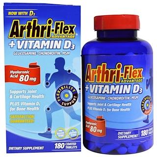 21st Century, Arthri-Flex Advantage, + Vitamin D3, 180 Coated Tablets