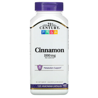 21st Century, Cinnamon, 1,000 mg, 120 Vegetarian Capsules
