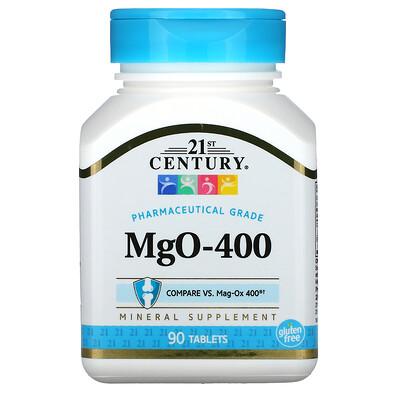21st Century MgO-400, 90таблеток