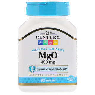 21st Century, MgO, 400 mg, 90 Tablets