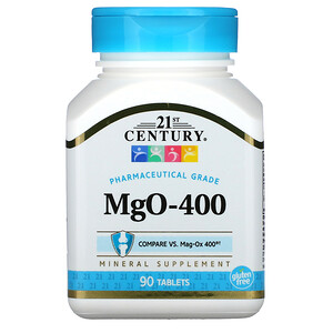 21 Сенчури, MgO, 400 mg, 90 Tablets отзывы
