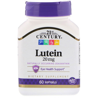 21st Century, Lutein, 20 mg, 60 Softgels