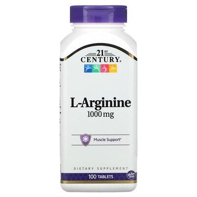 21st Century L-аргинин, 1000мг, 100таблеток