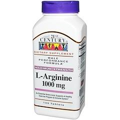 21st Century, L-アルギニン、最大の強さ、1000 mg、100錠