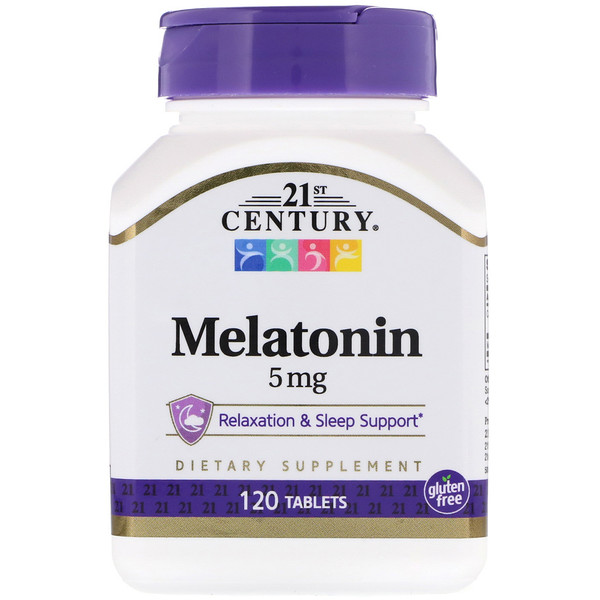 21st Century, Melatonina, 5 mg, 120 Tabletas