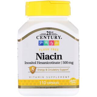 21st Century, Niacina inositol hexanicotinate, 500 mg, 110 cápsulas