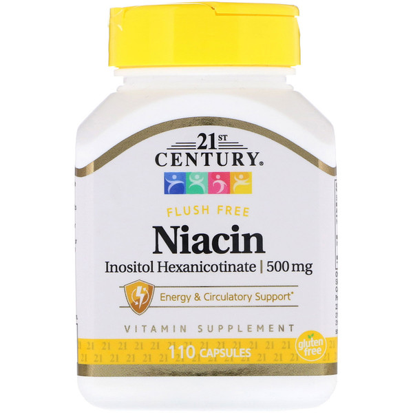 21st Century, Niacin, Inositol Hexanicotinate, 500 mg, 110 Capsules (Discontinued Item)