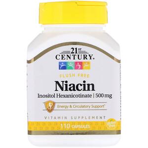 21 Сенчури, Niacin, Inositol Hexanicotinate, 500 mg, 110 Capsules отзывы покупателей