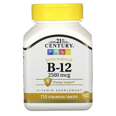 21st Century, 維生素 B12 營養片,2500 微克,110 片