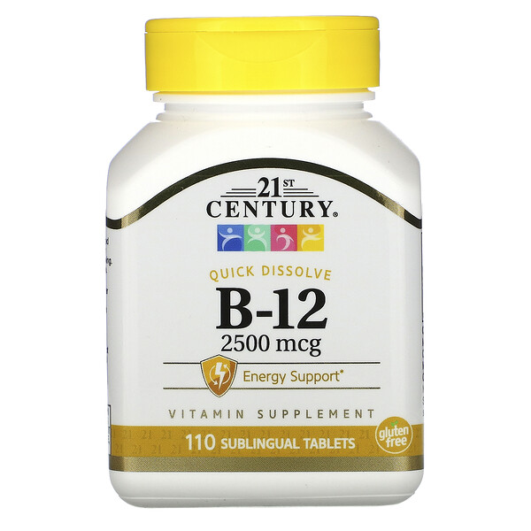 B-12, 2,500 mcg, 110 Sublingual Tablets