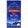 21st Century, Alaska Wild Fish Oil, Mega Omega 3, 1950 mg /1350 mg, 90 Enteric Coated Softgels